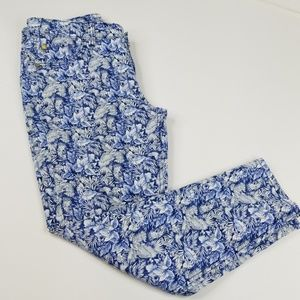 TOMMY BAHAMA ▪ Ankle Jeans, blue & white floral